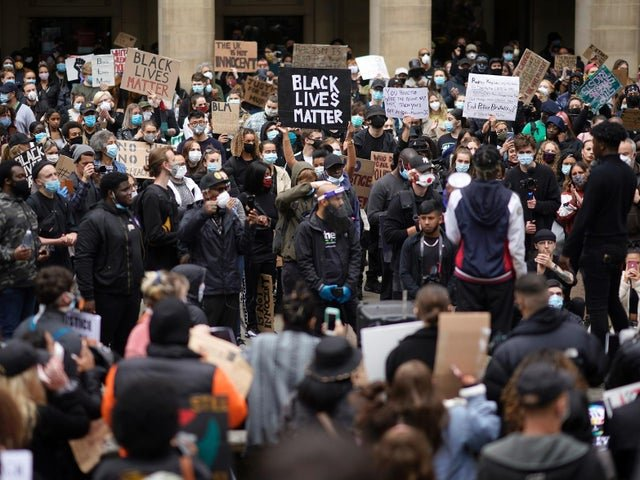 Black Lives Matter Protesters in group