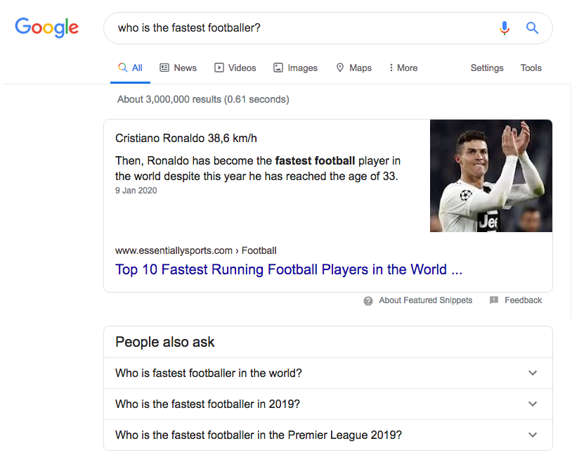 Position 0 Featured Snippet People Ask Examples