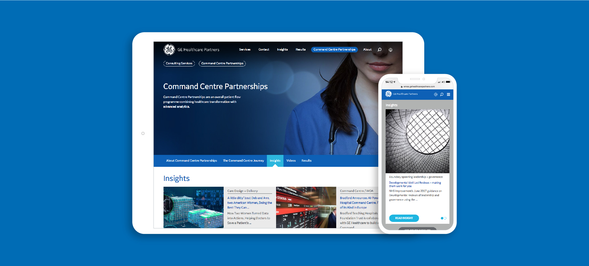 GE Healthcare Finamore website