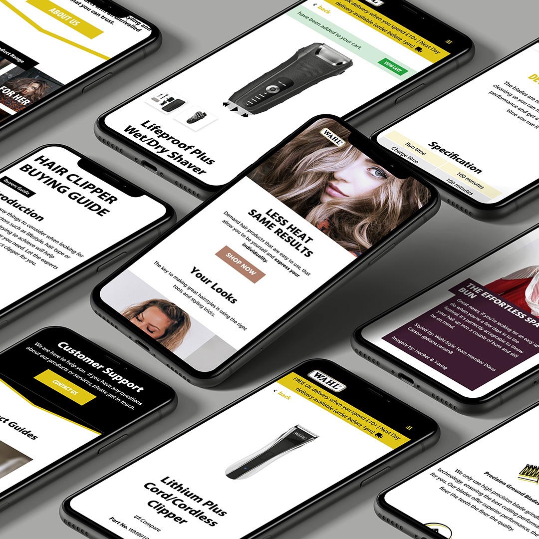 The Wahl UK website on mobile devices
